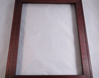 11x14  Curly Maple with Reddish Brown Dye Picture Frame