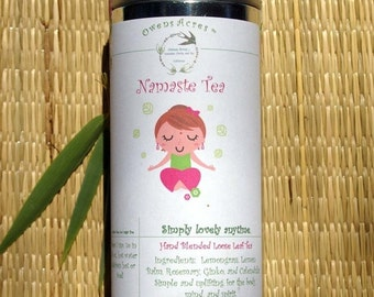 ALOHA SALE.... Namaste Herbal Tea, Tisane, Tea in Tin, Gift Tea, Loose Tea, Caffeine Free, Sugar Free, Herbal Tea, Yoga