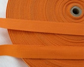 "Orange Tangerine Cotton Twill Tape Trim- 5/8"" wide - 5 yards - Sewing Trim Supplies - Woven Flat Tape Sewing Trim for Decoration, Ribbon"