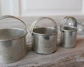 Vintage Metal Biscuit Cutters, Donut Hole cutters, Primitive Metal Circle Cookie Cutters, set
