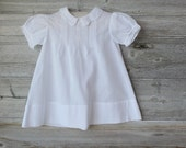 Vintage White Baby Gown Dress, Baby Girl Clothes, Baby Girl, Baby Gift, Smocked White Gown, Baby Gown, Pin-tucks, Bringing Home Gown