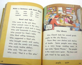 Faces and Places Vintage 1940s Children's School Reader or Textbook