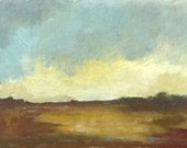 MINI 1608, 0il painting original landscape, miniature art, 100% charity donation, oil painting on cardboard
