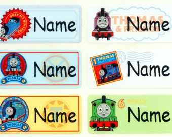 Thomas the Engine Iron On personalized clothing garment washable label sticker baby toddler children school supply daycare uniform