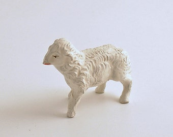 Vintage Lamb Figurine Sheep Figurine Christmas Nativity