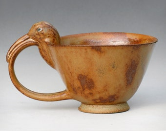 Curlew Teacup with Haystack Glaze--4 of 4