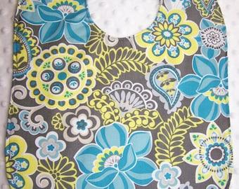 FREE SHIPPING  Floral Design Large Toddler Baby Bib