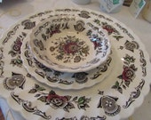 JUST REDUCED - Winter Sale - VINTAGE - From England - Myott's Bouquet - Staffordshire China - Service for 8