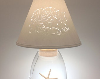 fillable lamp with cut and pierced sea shell design lamp lamp fillable