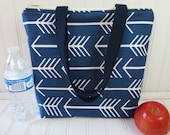 Insulated Lunch Tote - Lunch Bag - Deluxe Lunch Tote - Lunch Tote Bag - Large Lunch Tote - Monogrammed Lunch Bag - Teacher Gift - Arrow Tote