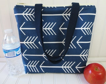 Insulated Lunch Tote - Teacher Lunch Bag - Lunch Bag for Women - Lunch Tote Bag - Large Lunch Tote - Monogrammed Lunch Bag - Arrow Tote