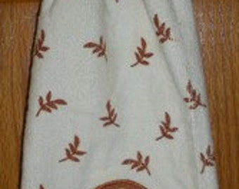 Tom Turkey Crochet Top Hanging Towel