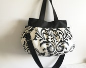 Cross Body Pleated Bag (SMALL or MEDIUM) w/ Adjustable Strap - Traditions White