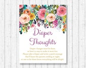 Floral Diaper Thoughts Ga...