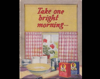Take One Bright Morning by Sun Maid - Vintage Advertising Recipe Book c. 1930s