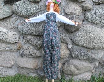 Soft Cloth Doll  Gregor the Scarecrow Doll garden Doll