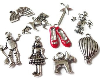 9 Wizard of OZ Themed Charms