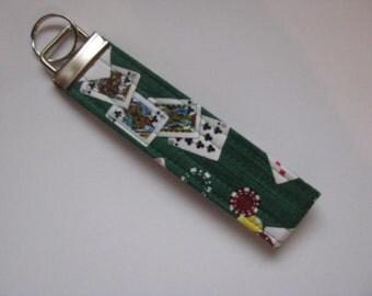 Key Fob Wristlet Key Chain Poker