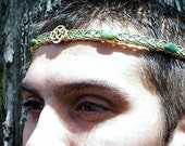 ON SALE Lord of the Isles Celtic Irish Circlet with Jade