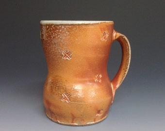 Coffee Mug. Soda Fired Stoneware Pottery  (#4)