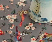 4121 - Cath Kidston British Birds (Grey) Oilcloth Waterproof Fabric - 28 Inch (Width) x 17 Inch (Length)