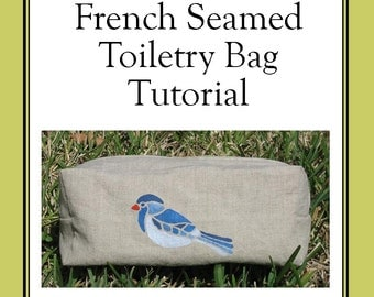 French Seamed Toiletry Travel Bag Tutorial