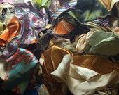 SILK FABRIC Scrap Lot - 25 Pieces Dupioni Brocade Charmeuse Velvet & More!