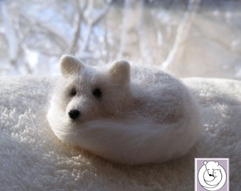 Needle Felted Arctic Fox/ Polar Fox