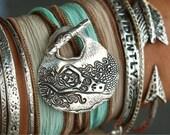 Mermaid Jewelry, Mermaid Bracelet, I Must Be  A Mermaid Jewelry, Sterling Silver Mermaid Bracelet, Mermaid Wrap Bracelet, Nautical Jewelry