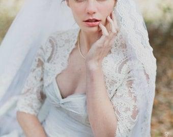 Plus Size Lace Wedding Bolero - Plus size Lace Wedding Jacket - Lace Wedding Jacket - Stella