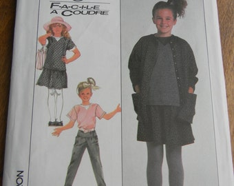 Vintage simplicity Girls Pants, Skirt, Top and Cardigan Pattern #8402