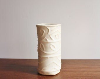 Vintage handmade modern pottery, Vase