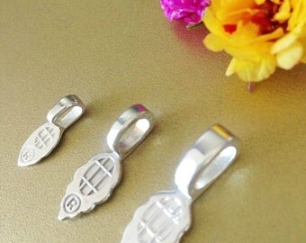 25 aanraku silver plated bails medium glass tile pendants jewelry bails aanraku silver plated 25 pieces medium glass tile scrabble pendants diy glue on pad mozeypictures Image collections