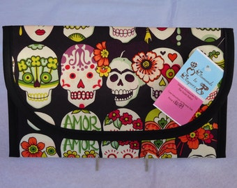 Frida Kahlo Gotas de Amor Diaper and Wipes Case Holder Clutch