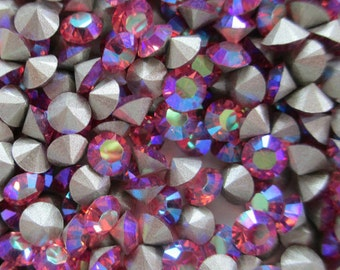 36 pp32 Rose AB ss17 Swarovski Size 17 or 4mm Chatons Art 1028 Swarovski 4mm Rose ab pp32 ab Rose 32pp