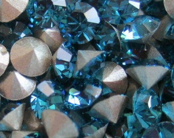 48 pp31 Indicolite ss16 Swarovski Size 16 or 4mm Chatons Art 1028 Swarovski 4mm Indicolite pp31 31pp Indicolite 31pp
