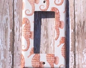 Switchplate  Outlet Cover Seahorse Beach Bungalow Ocean Nautical