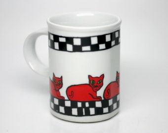 CAT Mug Danesco Katie Freedman Red Cats Collector Montreal 1988