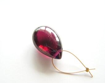 Large Rhodolite Garnet Polished Drop - Focal/Single - 10x15mm