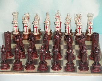 Crusaders chess set