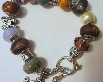 Peace and Love Charm Bracelet