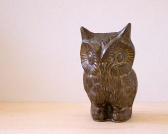 1970s vintage brass owl figurine.