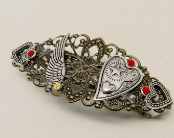 Steampunk hair barrette. Steampunk  barrette. Steampunk jewelry.