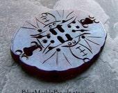 Carved Jade-Carved Gemstone Beads-Tribal Beads-Boho Chic-Asian Pendant-Large Gemstone Pendant-Carved Jade Beads-Carved Jade Pendant-1 Piece