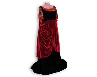 Blood red gown, LotR cosplay dress, elven cosplay, medieval dress, elfen wedding dress, made to order, elfish dress, renaissance faire