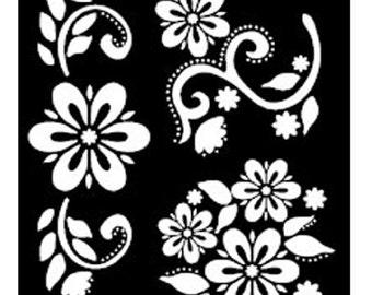 Debbie's Floral  FolkArt Painting Stencils - Large PL30599 fnt