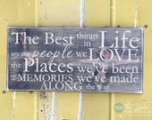 The Best Things in Life Are The People We Love - Wood Sign - Home Decor - Signs - Wall Typography Quote Saying Distressed Wooden Sign S161