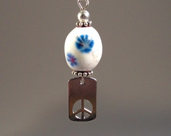 Peace and Flowers Bead
