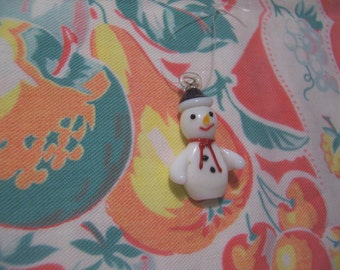 tiny blown glass snowman ornament