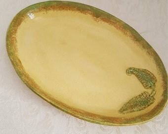 Oval Serving Platter/Autumn Fern Plate